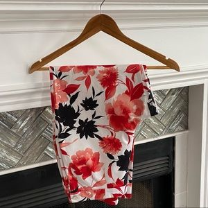MATCH Floral SUMMER Cuffed CROPPED PANTS 8